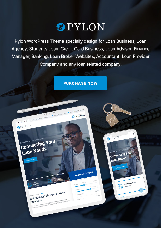 Pylon - Loan & Finance WordPress Theme