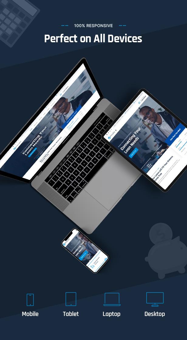 Responsive Loan  WordPress Theme