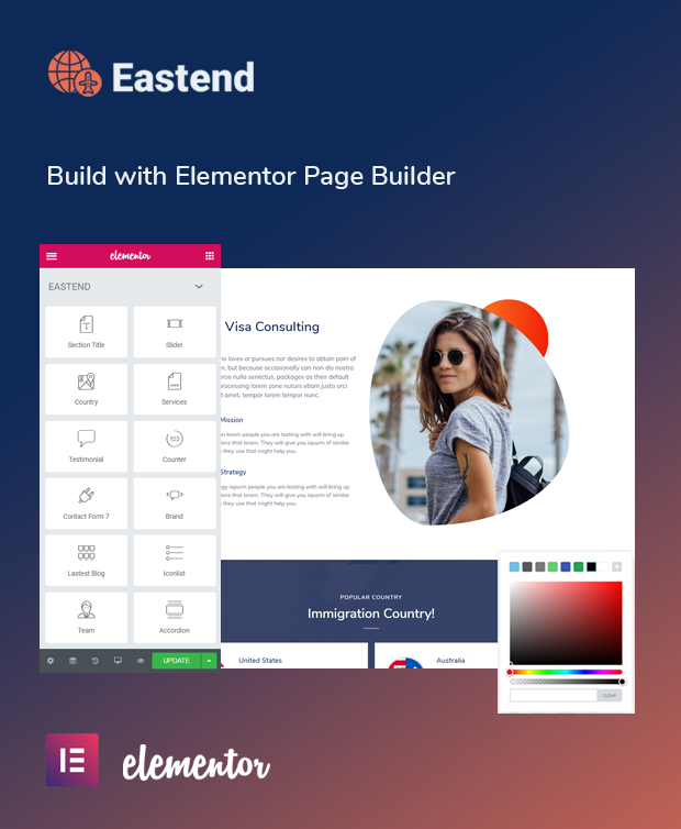 Eastend Visa Consulting WordPress Theme